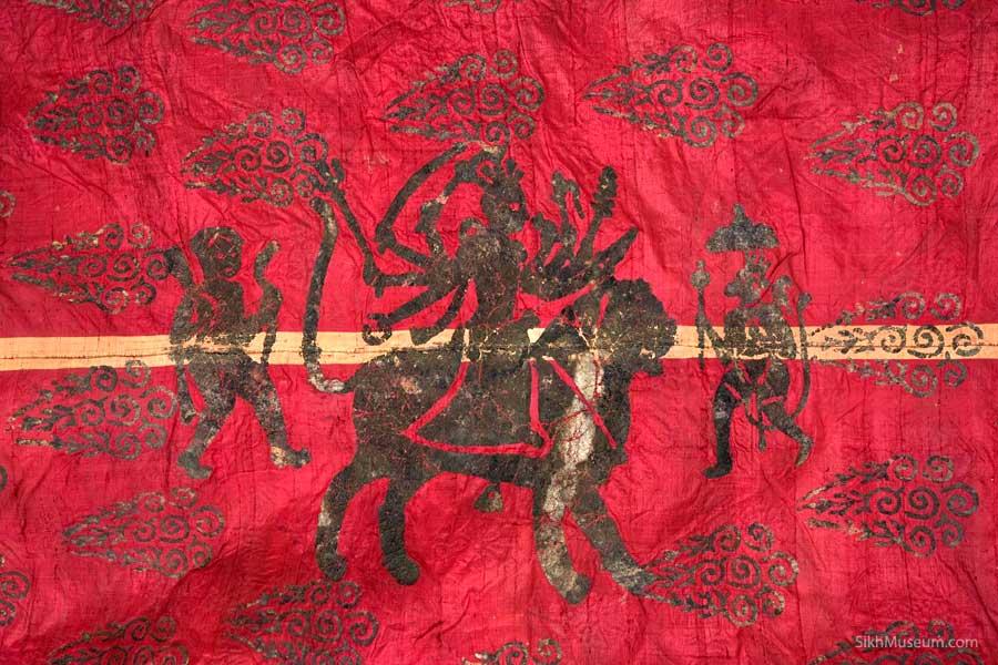 khanda sahib with lion